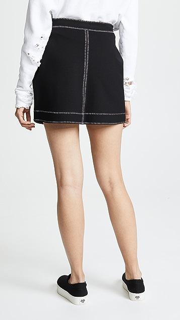 McQ - Alexander McQueen Contrast Line Skirt