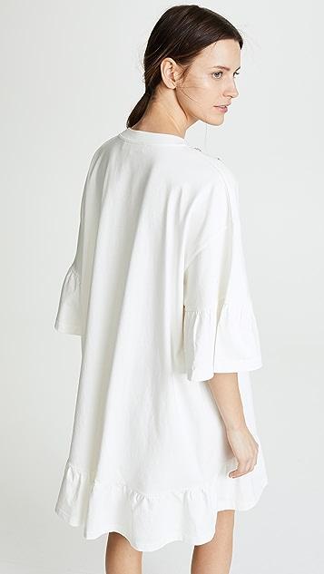 McQ - Alexander McQueen Loose Ruffle Tee Dress