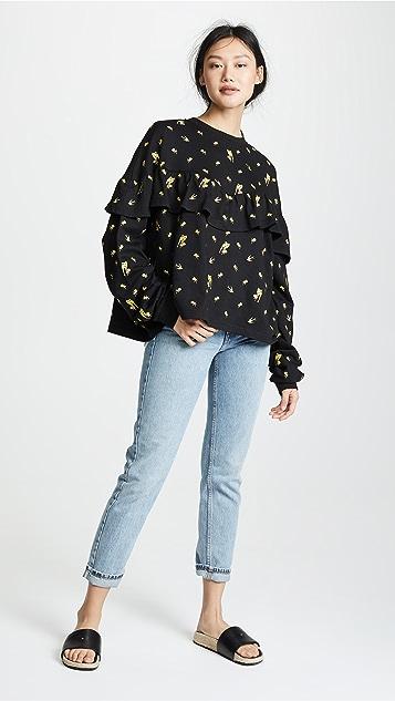 McQ - Alexander McQueen Inserted Ruffle Sweatshirt