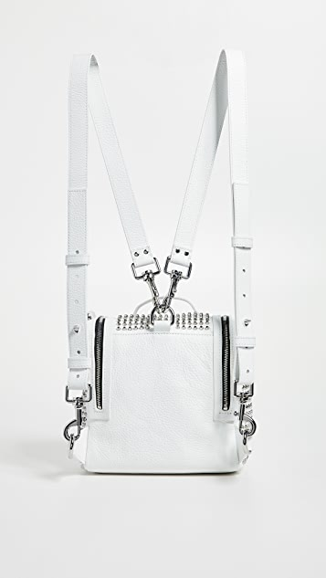 McQ - Alexander McQueen Stud Mini Convertible Box Backpack