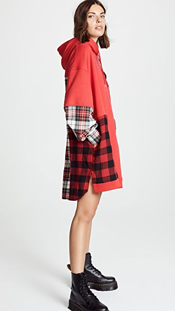McQ - Alexander McQueen Patched Hoodie Dress