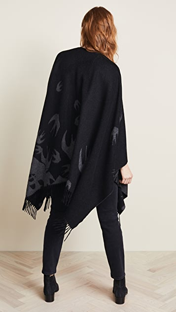 McQ - Alexander McQueen Swallow Poncho Scarf