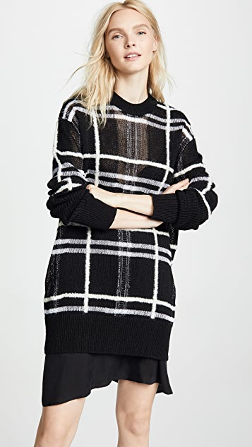 d799aee73ca7 McQ - Alexander McQueen Patched Check Tunic Sweater