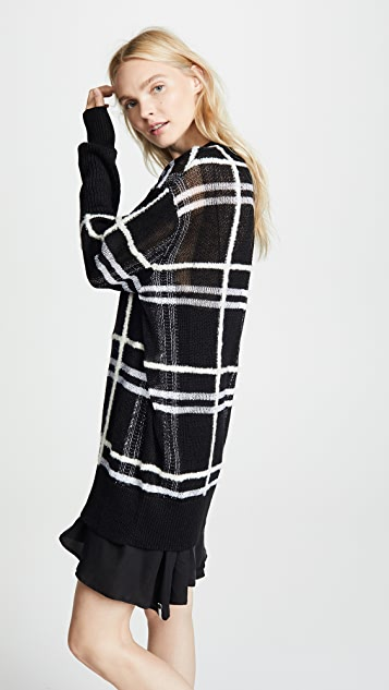 McQ - Alexander McQueen Patched Check Tunic Sweater