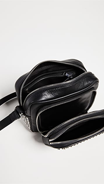 McQ - Alexander McQueen Studded Cross Body Camera Bag