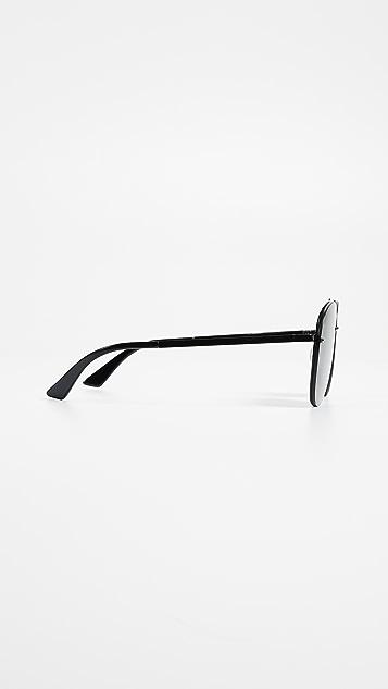 McQ - Alexander McQueen Discord Light Pilot Frame Sunglasses