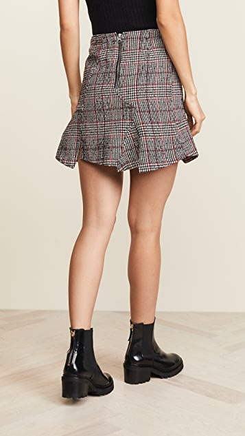 McQ - Alexander McQueen Short Cut Up Zip Skirt
