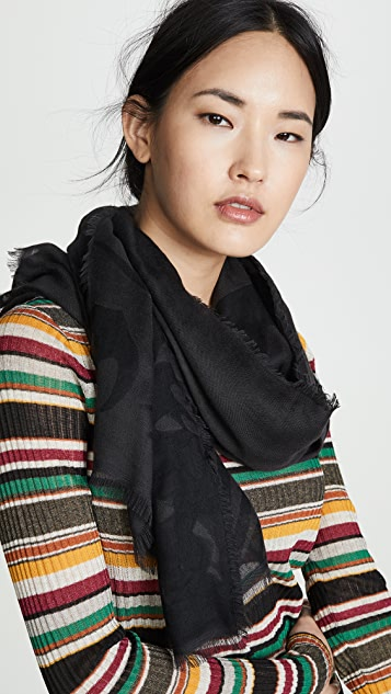 McQ - Alexander McQueen Черный шарф