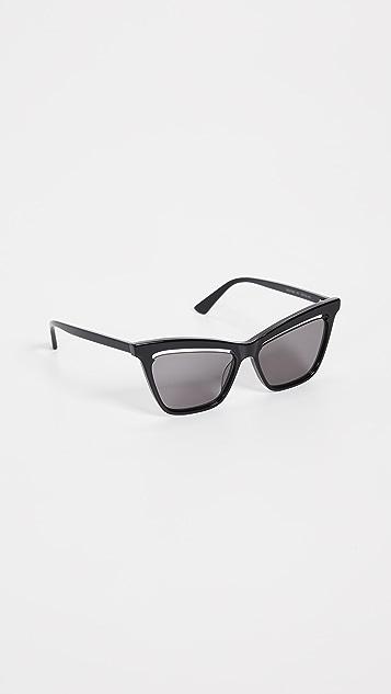 McQ - Alexander McQueen Cat Eye with Cut Lens Sunglasses