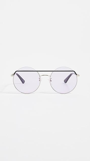 McQ - Alexander McQueen Oversized Round Sunglasses