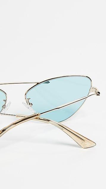 McQ - Alexander McQueen 窄版猫眼太阳镜