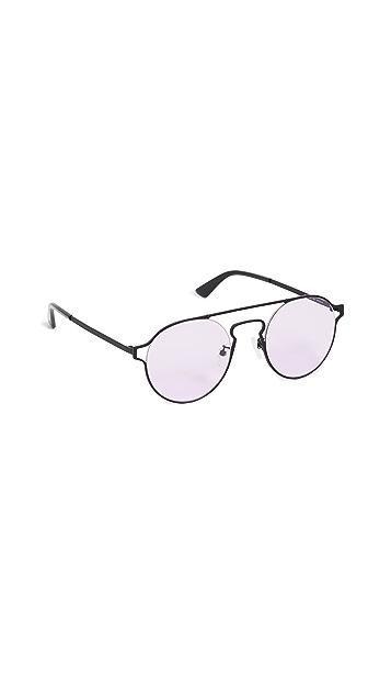 McQ - Alexander McQueen Солнцезащитные очки в круглой металлической оправе