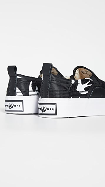 McQ - Alexander McQueen Plimsoll Swallow Slip On Sneakers
