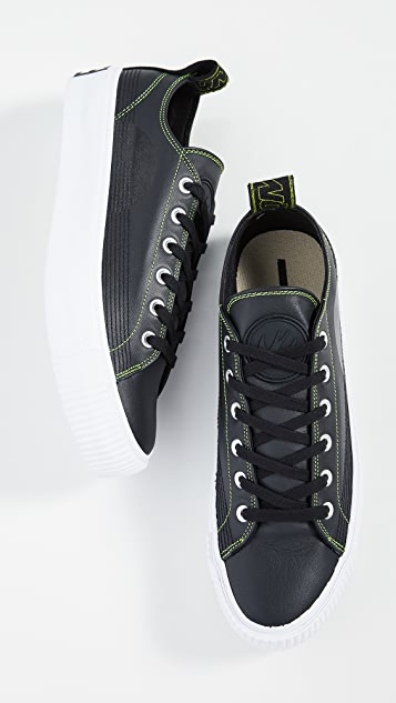 McQ - Alexander McQueen Plimsoll Neon Stitch Low Top Sneakers