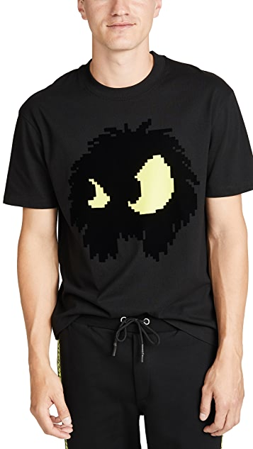 McQ - Alexander McQueen Short Sleeve Dropped Shoulder Monster Tee