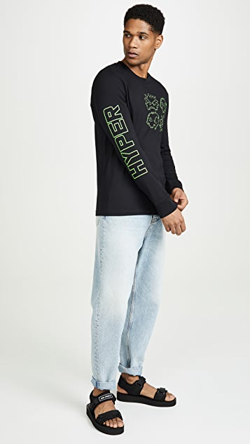 McQ - Alexander McQueen Long Sleeve Crew Neck Monster Tee