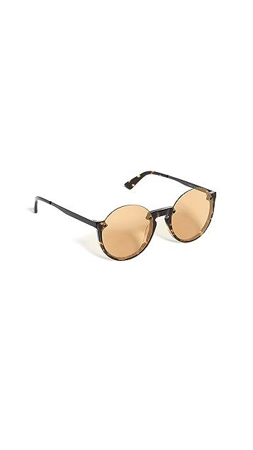 McQ - Alexander McQueen Округлые солнцезащитные очки с половинчатым ободком