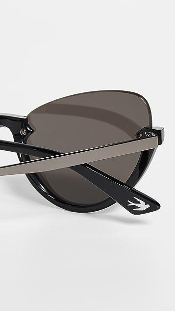 McQ - Alexander McQueen Узкие солнцезащитные очки «кошачий глаз» Pilot