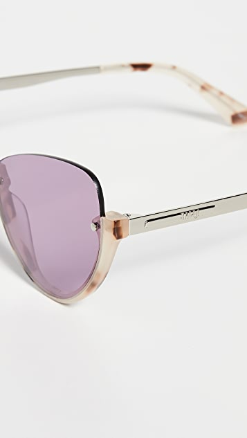 McQ - Alexander McQueen Narrow Pilot Cat Eye Sunglasses