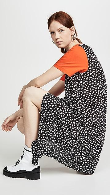 McQ - Alexander McQueen 混合 T 恤连衣裙