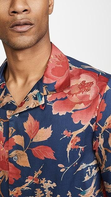 McQ - Alexander McQueen Yoke Billy Floral Short Sleeve Shirt