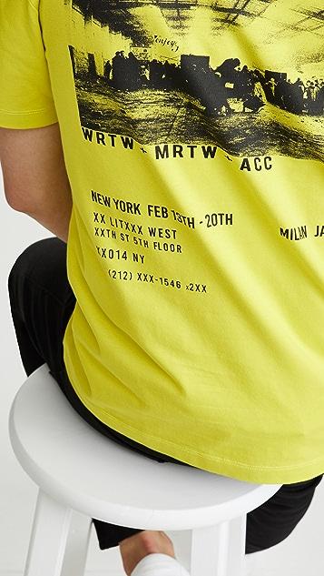 McQ - Alexander McQueen Short Sleeve Dropped Shoulder Enjoy Tee