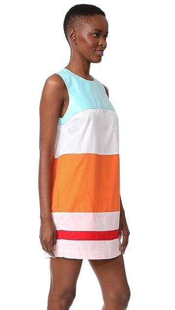 MDS Stripes Colorblock Shift Dress