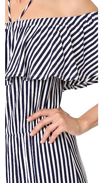 MDS Stripes Gracie Ruffle Dress