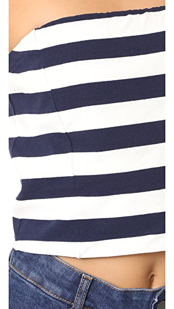 MDS Stripes Bandeau Top