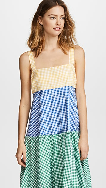 MDS Stripes Tiered Tank Dress