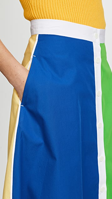 MDS Stripes Vertical Stripe Skirt