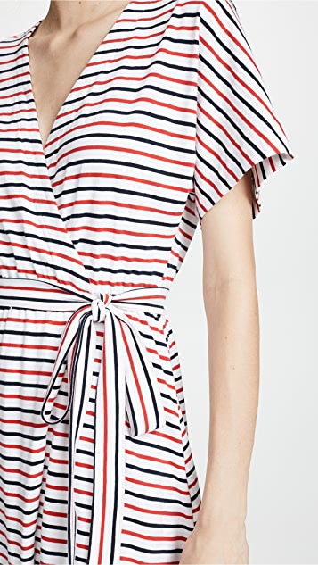 MDS Stripes Rose Wrap Dress
