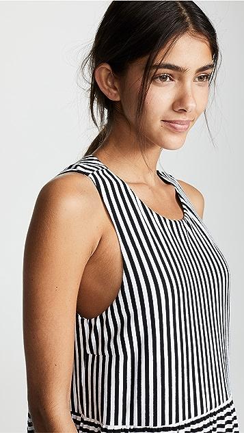 MDS Stripes Georgia Peasant Dress
