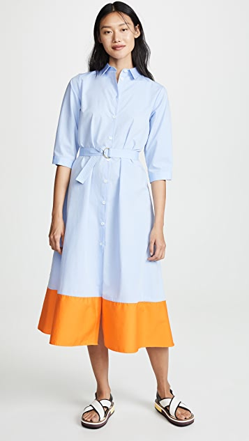 Mds Stripes Colorblock Shirtdress