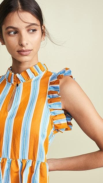 MDS Stripes Soiree Dress