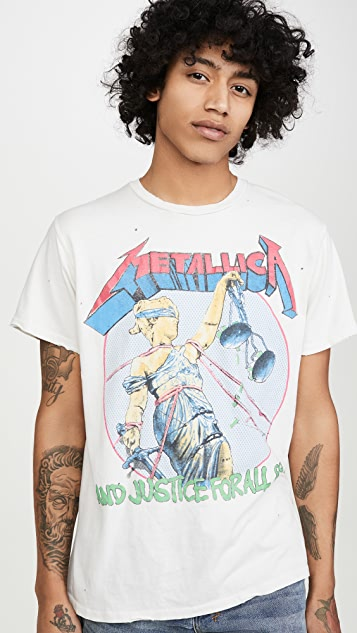 Madeworn Short Sleeve Metallica And Justice for All
