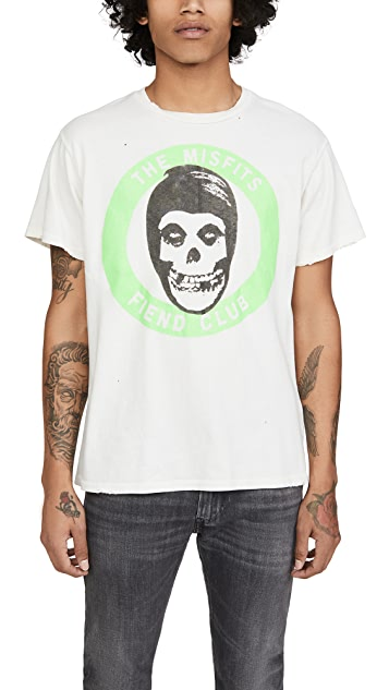 Madeworn The Misfits Fiend Club Neon Muscle Tee
