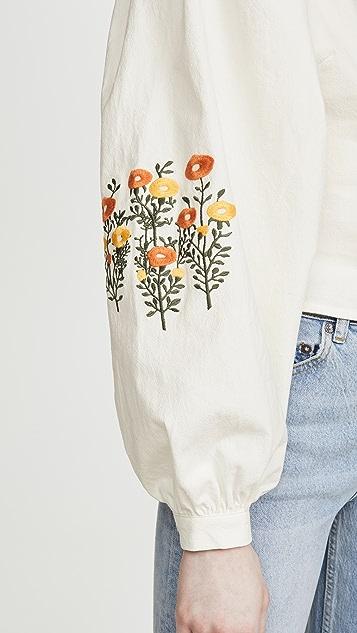 青草色 Carnation 上衣