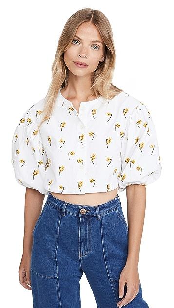 青草色 Bouquet 衬衫