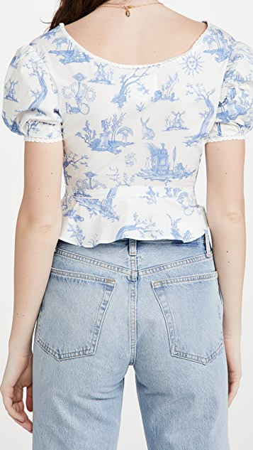 Meadows Mallow Cropped Shirt