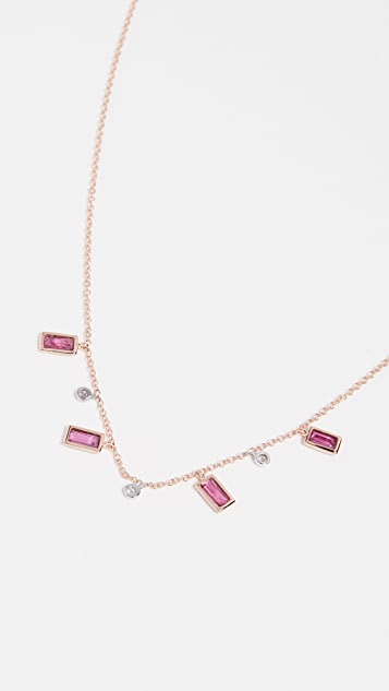 Meira T Ruby Drop Necklace