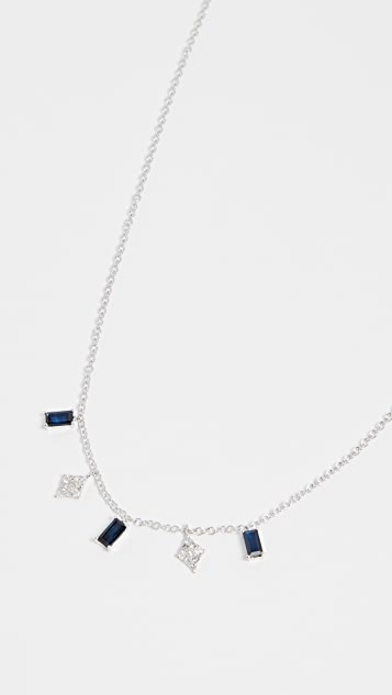 Meira T 14k White Gold Drop Necklace