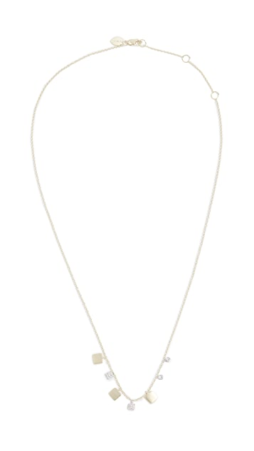 Meira T 14k Gold & Diamond Squares Necklace