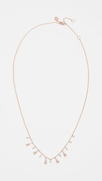 Meira T 14k Gold Mini Diamond Drop Necklace