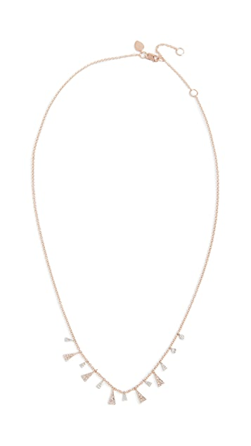 Meira T 14k Gold Mini Diamond Drop Necklace