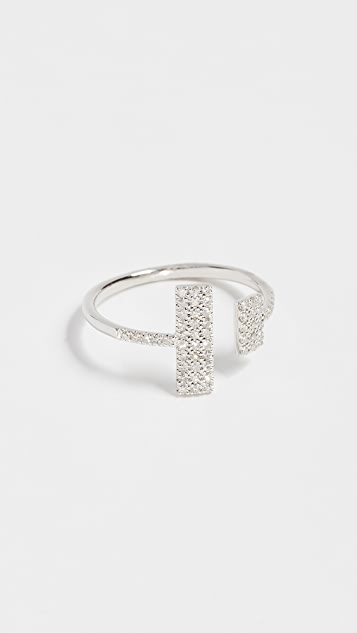Meira T 14k Gold Diamond Open Ring - Diamond