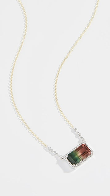 Meira T 14k Watermelon Tourmaline Necklace - Multi
