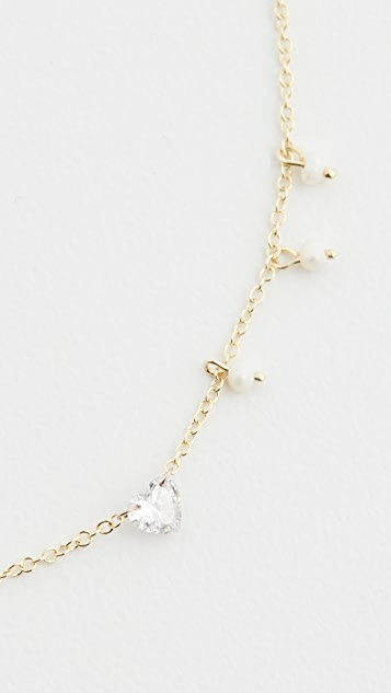 Meira T 14k Diamond Heart Necklace