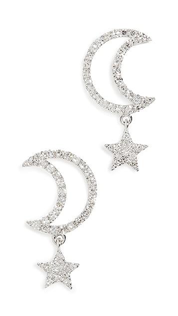 Meira T 月亮星星耳环