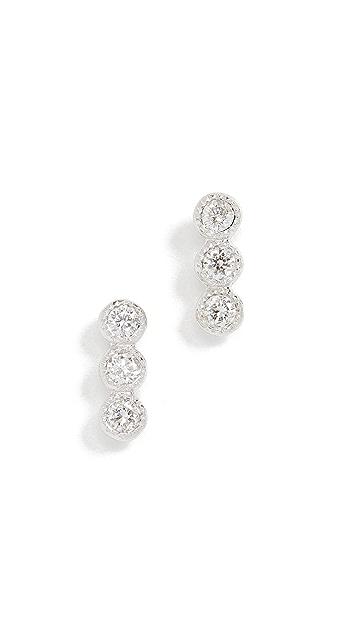 Meira T Three Dot Earrings
